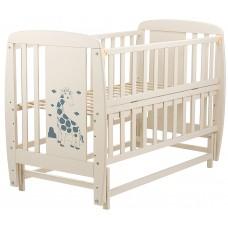 Кровать Babyroom Жирафик маятник, откидной бок DJMO-02  бук слоновая кость